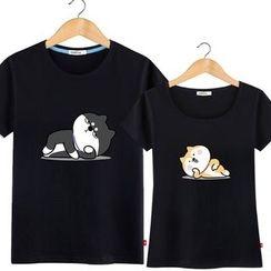 HEADON - Short-Sleeve Printed Couple T-Shirt