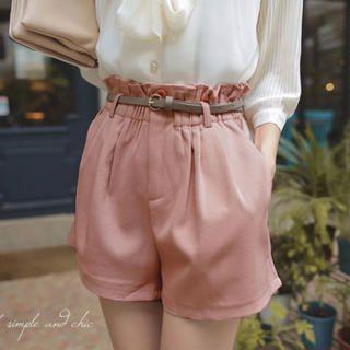 Tokyo Fashion - Paperbag-Waist Belted Shorts