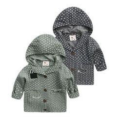 lalalove - Kids Patterned Hooded Jacket