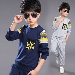 Pegasus - Kids Set: Patterned Pullover + Sweatpants