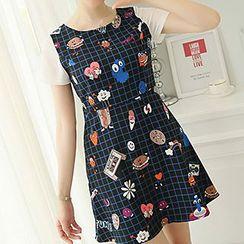 Q.C.T - Print Short-Sleeve Dress