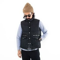 YIDESIMPLE - Patchwork Padded Vest