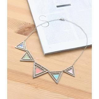 Petit et Belle - Triangle Segments Necklace