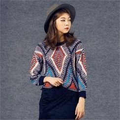 MAGJAY - Wool Blend Patterned Sweater