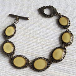MyLittleThing - Vintage Style Copper Bracelet (Ivory)