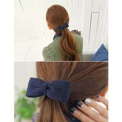 soo n soo - Bow Knit Hair Tie