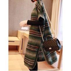 YIDIYU - Maternity Striped Short Sleeve Sweater Dress