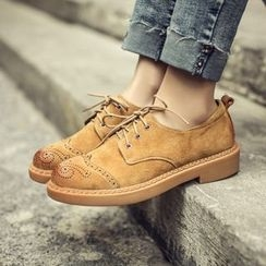 JY Shoes - Lace-Up Brogue Shoes