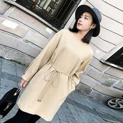 ZZ Lady - Plain Long-Sleeve Shift Dress