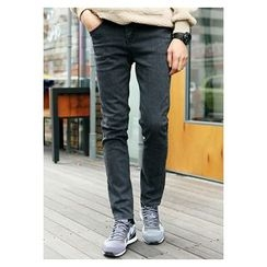 HOTBOOM - Washed Skinny Jeans
