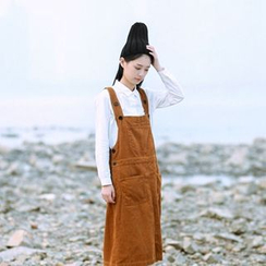 tete - 灯芯绒背带裙