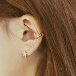 Cheermo - Rhinestone Flower Ear Cuff