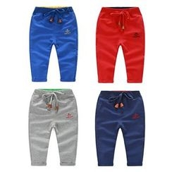 Seashells Kids - Kids Anchor Embroidered Sweatpants
