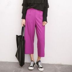 SUYISODA - Cropped Wide Leg Pants