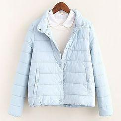 Mocha - Plain Padded Jacket