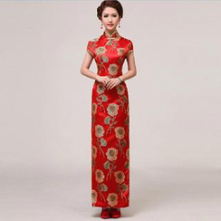 Posh Bride - Floral Embroidered Qipao