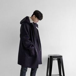 Seoul Homme - Pocket-Detail Hooded Coat