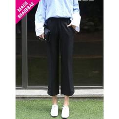 BBAEBBAE - Slit-Side Straight-Cut Pants