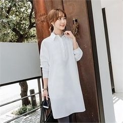 JOAMOM - Half-Placket Shift Shirtdress