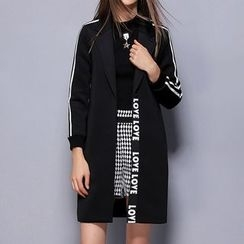 Merald - Striped Long Blazer