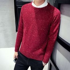 Hawoo - Long-Sleeve Glitter Knit Top