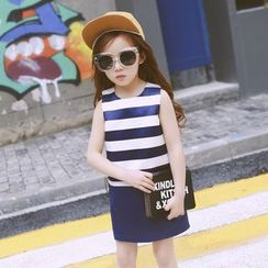 Lemony dudu - Kids Striped Sleeveless Dress