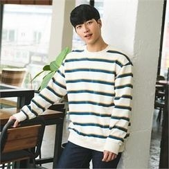 STYLEMAN - Round-Neck Stripe T-Shirt