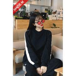 MICHYEORA - Contrast-Trim Sweatshirt