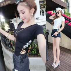 Imogen - Short-Sleeve V-neck Knit Top