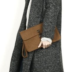 Remember Click - Wool Clutch
