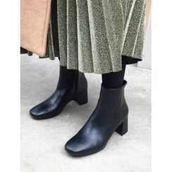 FROMBEGINNING - Faux-Leather Ankle Boots