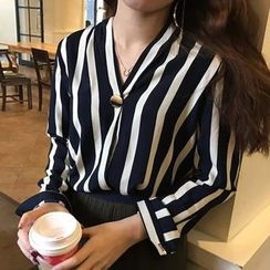 Dute - 細直條紋寬鬆襯衫
