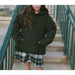 Eva Fashion - Plain Hooded Padded Top