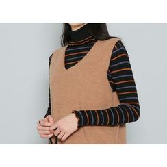 Envy Look - Turtle-Neck Striped Sweater
