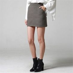 JVLLY - Pocket-Side A-Line Mini Skirt
