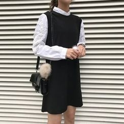 Dute - Crochet Applique Long Sleeve Dress
