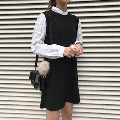 Dute - 鉤織貼布長袖連衣裙