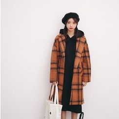 Porta - Plaid Knit Coat