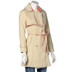 AiSun - Tied-Waist Double-Breasted Trench Coat