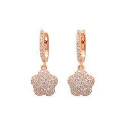BELEC - Rose Gold Plated 925 Sterling Silver Stars with White Cubic Zircon Earrings