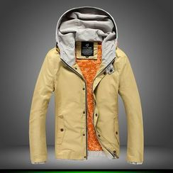 Alvicio - Color Panel Hooded Jacket