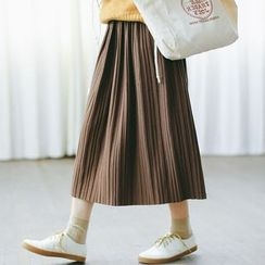 Woodie - Accordion Midi Skirt