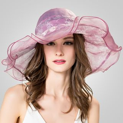 BADA - Ruffled-Trim Silk Sun Hat