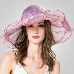 BADA - 真絲荷葉邊太陽帽