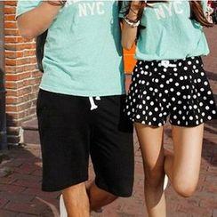 Lovebirds - Drawstring Couple Shorts