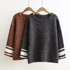 Ainvyi - Contrast Trim Mélange Sweater