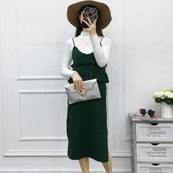 Be Bonita - Set: Knit Top + Ruffled Dress