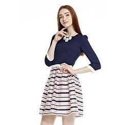 O.SA - 3/4-Sleeve Striped Dress