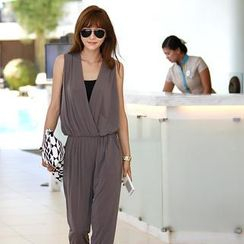 REDOPIN - Gathered-Waist Jumpsuit
