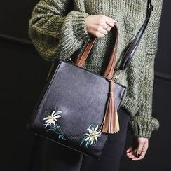 Youshine - Floral Embroidered Tote